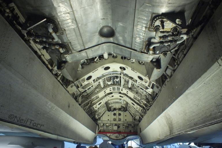 Bomb bay of XJ824 at Duxford IWM