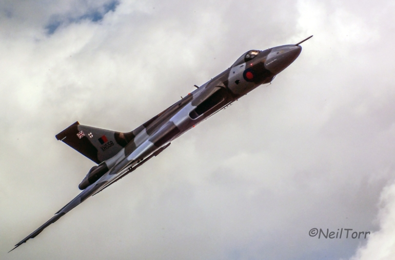 XH558 at the Military Pageant, Shuttleworth Collection