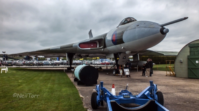 XM594 on static display at Newark Air Museum