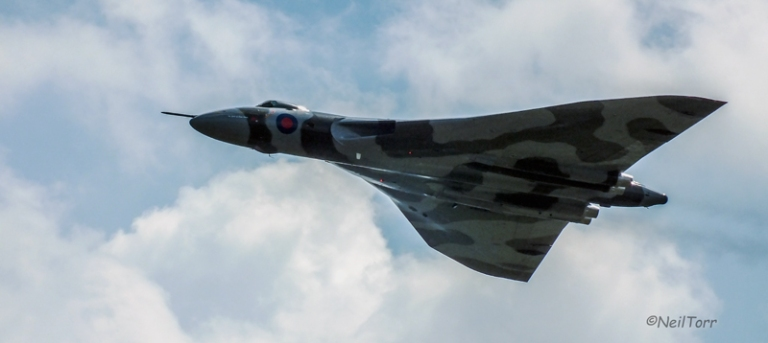 XH558 at RAF Waddington International Airshow 2013