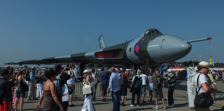 XH558 on static display at RAF Waddington International Airshow 2013