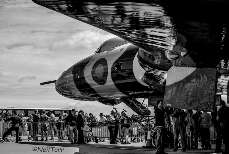 XH558, The Spirit of Great Britain, on static display at RAF Waddington International Airshow 2014 before flying later that day